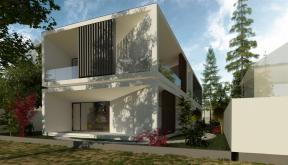 Locuinta Minimalista Moderna Slobozia, IL | Concept Design finalizat casa moderna cu parter si etaj etaje cod TIN Slobozia, IL | proiect din portofoliul CUB Architecture
