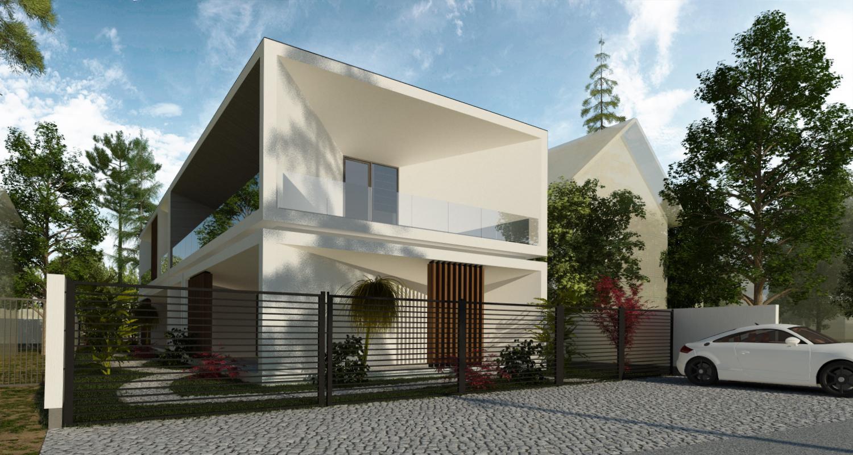Minimal modern house in slobozia ialomita project from for Casa minimalista villahermosa