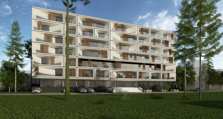 Ansamblu rezidential CVR zona cartier Berceni, Bucuresti, S4 | Concept Design bloc de locuinte modern cu apartamente - demisol parter si 6 etaje cod BICB in Bucuresti, S4 | Proiect din portofoliul CUB Architecture
