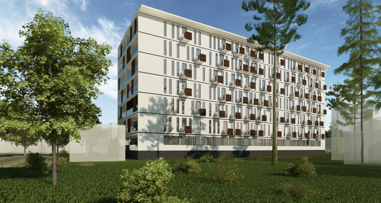 Ansamblu rezidential CVR zona cartier Berceni, Bucuresti, Sector 4 | Concept Design Finalizat bloc de locuinte modern cu apartamente - demisol parter si 6 etaje cod BICB in Bucuresti, S4 | Proiect din portofoliul CUB Architecture
