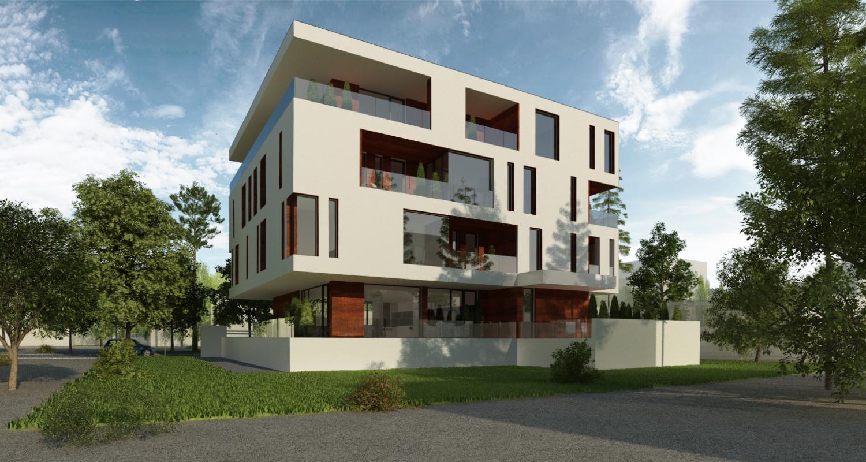 Proiect Imobil Rezidential cu 10 apartamente Galati, GL | Concept Design Imobil Rezidential cu 10 apartamente cod R222, Galati | proiect din portofoliul CUB Architecture
