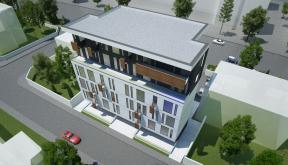 Imobil Mixt - Comercial si Rezidential cu parter comercial si 16 apartamente Bucuresti, Sectorul 1 | Concept Design finalizat Imobil Rezidential cu 16 apartamente si parter comercial cod VOLG, Bucuresti, Sectorul 1 | proiect din portofoliul CUB Architectu