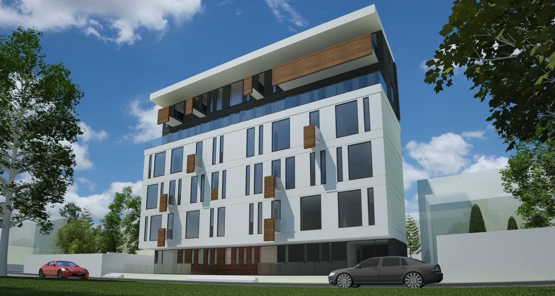 Imobil Mixt - Comercial si Rezidential cu parter comercial si 16 apartamente Bucuresti, S1 | Concept Design finalizat Imobil Rezidential cu 16 apartamente si parter comercial cod VOLG, Bucuresti, Sectorul 1 | proiect din portofoliul CUB Architecture