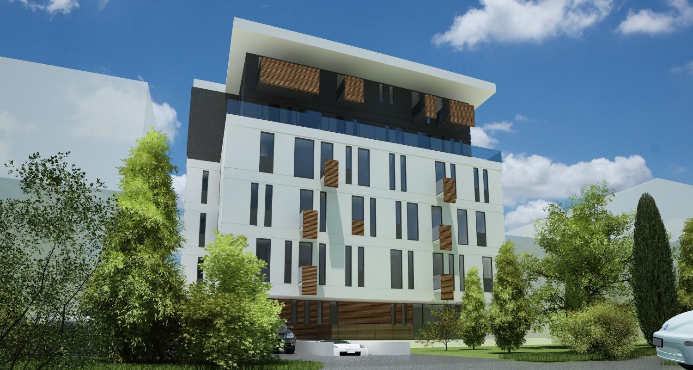 Imobil Mixt - Comercial si Rezidential cu parter comercial si 16 apartamente Bucuresti, Sectorul 1 | Concept Design  Imobil Rezidential cu 16 apartamente si parter comercial cod VOLG, Bucuresti, S1 | proiect din portofoliul CUB Architecture
