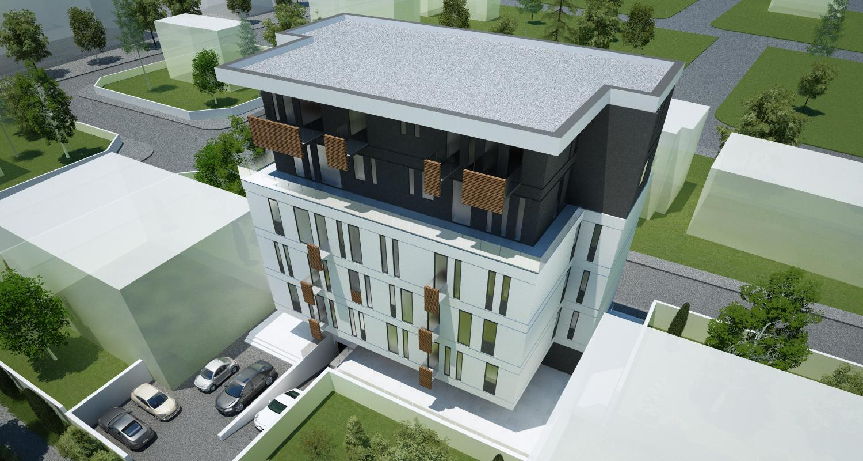 Imobil Mixt - Comercial si Rezidential cu parter comercial si 16 apartamente Bucuresti, Sectorul 1 | Concept Design  Imobil Rezidential cu 16 apartamente si parter comercial cod VOLG, Bucuresti, Sectorul 1 | proiect din portofoliul CUB Architecture