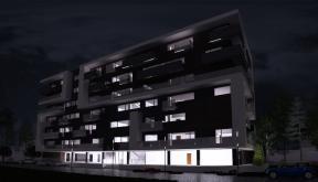 Imobil rezidential cu apartamente de 2 si 3 camere, zona Berceni, Bucuresti, S4 | Concept Design bloc de locuinte modern cu apartamente - demisol parter si 6 etaje cod BRAN in Bucuresti, Sector 4 | Proiect din portofoliul CUB Architecture