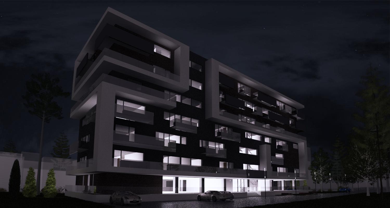 Imobil rezidential cu apartamente de 2 si 3 camere, zona Berceni, Bucuresti, Sector 4 | Concept Design bloc de locuinte modern cu apartamente de 2 si 3 camere - demisol parter si 6 etaje cod BRAN in Bucuresti, Sector 4 | Proiect din portofoliul CUB Archit