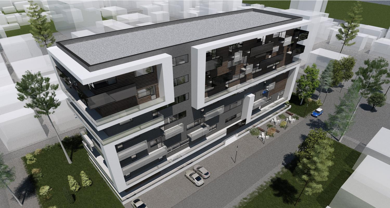 Imobil rezidential cu apartamente de 2 si 3 camere, zona Berceni, Bucuresti, Sector 4 | Concept Design bloc de locuinte modern cu apartamente - demisol parter si 6 etaje cod BRAN in Bucuresti, Sector 4 | Proiect din portofoliul CUB Architecture