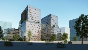 Ansamblu cu 3 Imobile Birouri clasa A Bucuresti, Sector 6   Concept Design finalizat Ansamblu cu 3 Imobile Birouri clasa A cod IMOB Bucuresti, Sector 6   proiect din portofoliul CUB Architecture