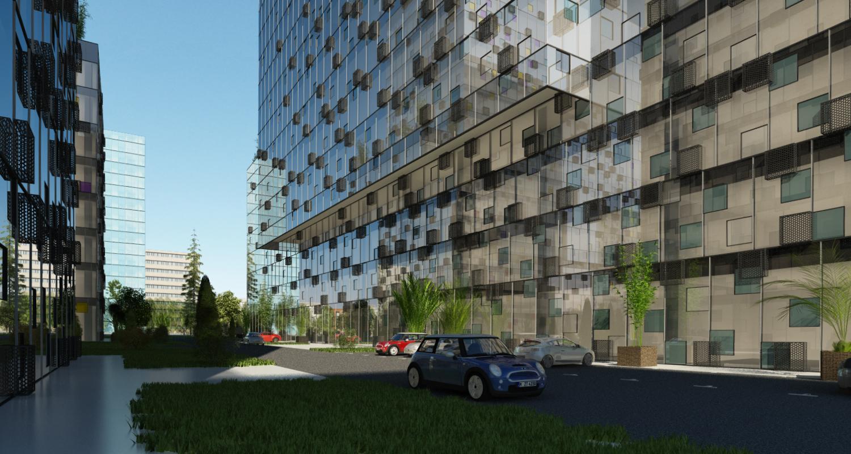 Ansamblu cu 3 Imobile Birouri clasa A Bucuresti, Sector 6 | Concept Design finalizat Ansamblu cu 3 Imobile Birouri clasa A cod IMOB Bucuresti, Sector 6 | proiect din portofoliul CUB Architecture