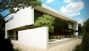 Proiect Locuinta Moderna cu Atrium semideschis casa moderna cod LIC in Corbeanca Ilfov