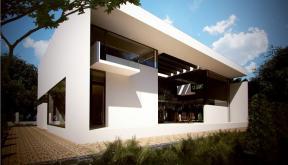 Proiect Locuinta Moderna cu Atrium semideschis