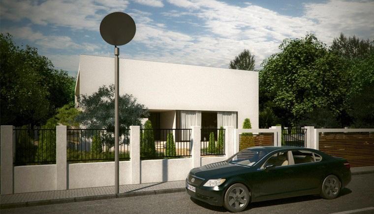 Proiect Locuinta Moderna cu Atrium semideschis cod LIC in Corbeanca