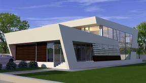 Proiecte Locuinte moderne avantgardiste | Proiectare finalizata casa cod CFP Pitesti, Arges - proiect din portofoliul CUB Architecture