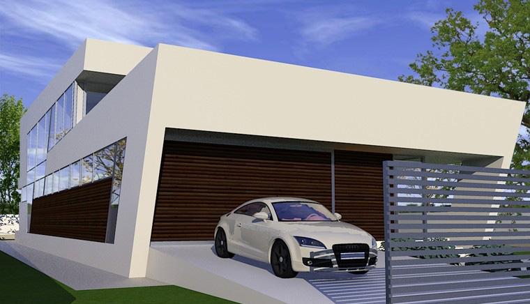 Proiecte Locuinte moderne avantgardiste | Proiectare finalizata casa moderna cod CFP Pitesti, Arges - proiect din portofoliul CUB Architecture