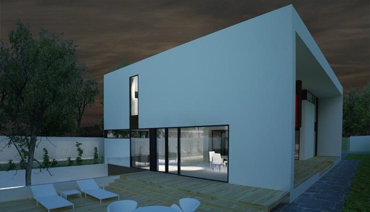 Proiect Locuinta Moderna minimalista cu Atrium cod CAA in Alexandria TR