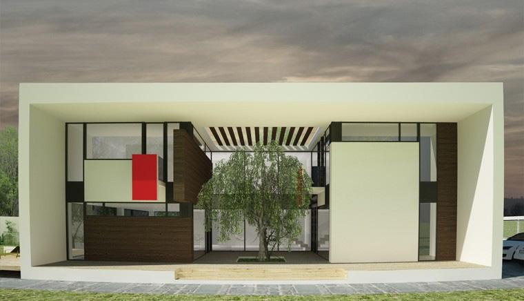 Proiect Locuinta Moderna minimalista cu Atrium deschis cod CAA in Alexandria TR