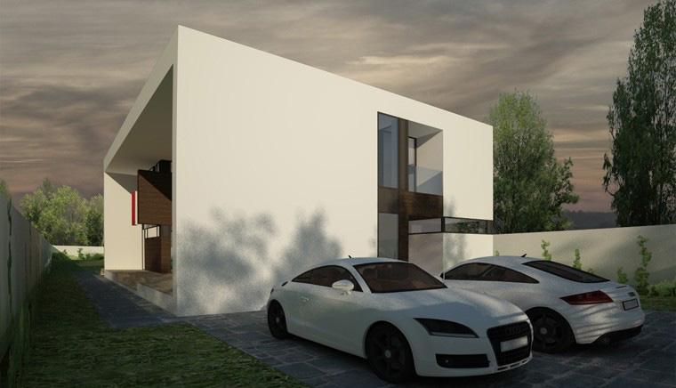 Proiect Locuinta Moderna minimalista cu Atrium deschis pe doua nivele cod CAA in Alexandria TR