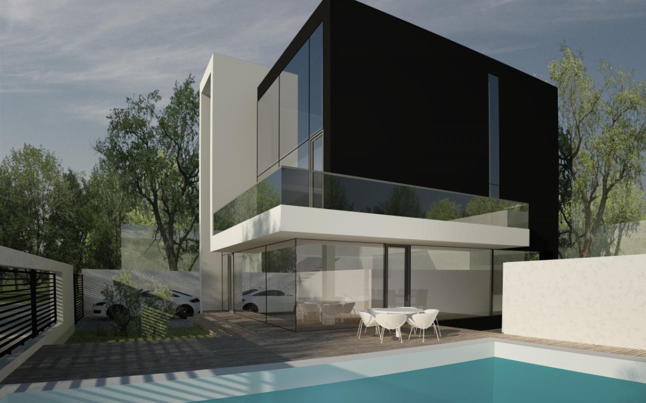 Proiect Locuinta Moderna cu Piscina casa moderna cod DRP in Pipera Voluntari