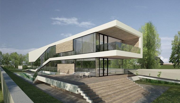 Proiect Locuinta Moderna casa pe malul lacului Bucuresti Sector 1