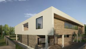 Proiect Duplex modern Proiectare finalizata casa moderna cod GDP in Pantelimon  - proiect din portofoliul CUB Architecture