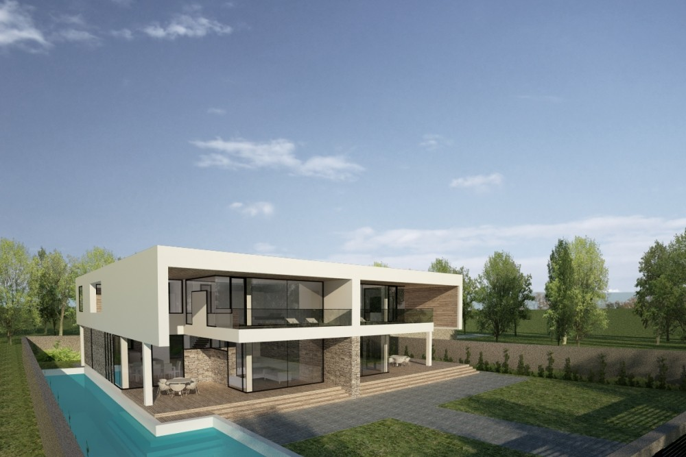 Duplex modern houses in pantelimon ilfov project from for Piani duplex moderni