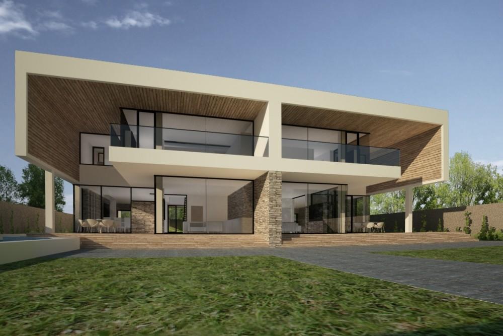 Proiect Duplex Proiectare finalizata casa moderna cod GDP in Pantelimon, Ilfov - proiect din portofoliul CUB Architecture