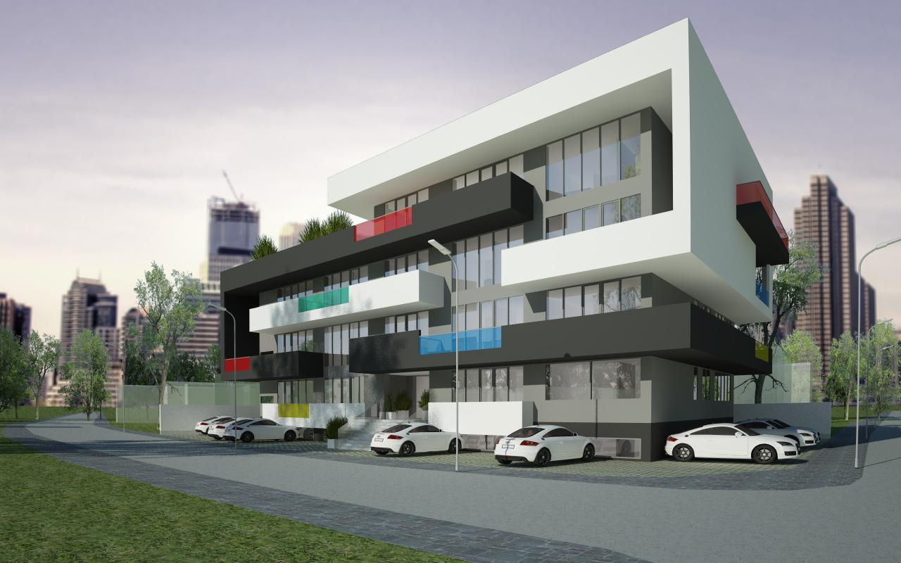 Proiect Imobil Rezidential cu 31 de Apartamente Bucuresti bloc de locuinte modern cod AUSL in Bucuresti, Sector 1