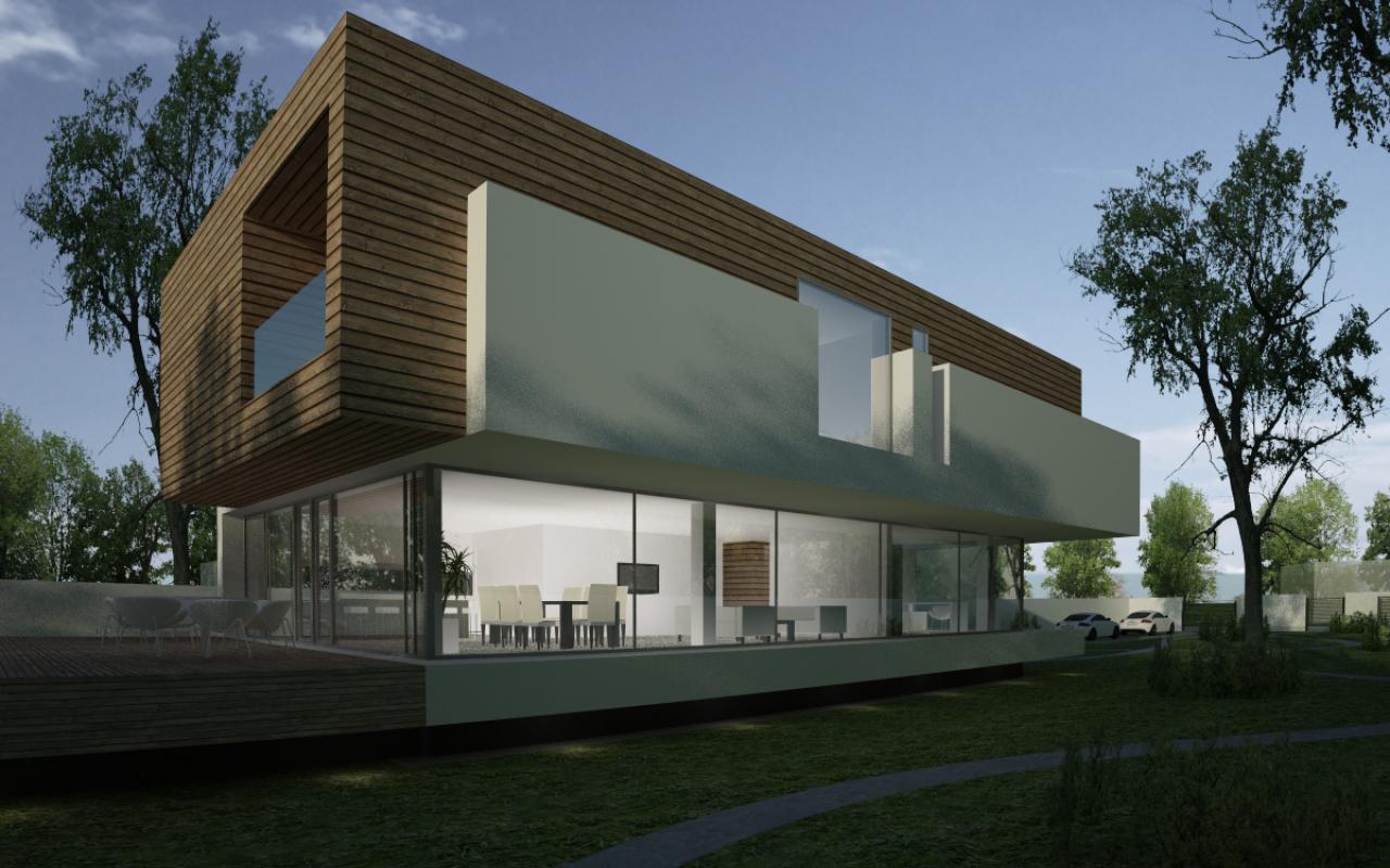 Proiect Locuinta Bifamiliala Moderna casa moderna cod MSL in Landsee Austria