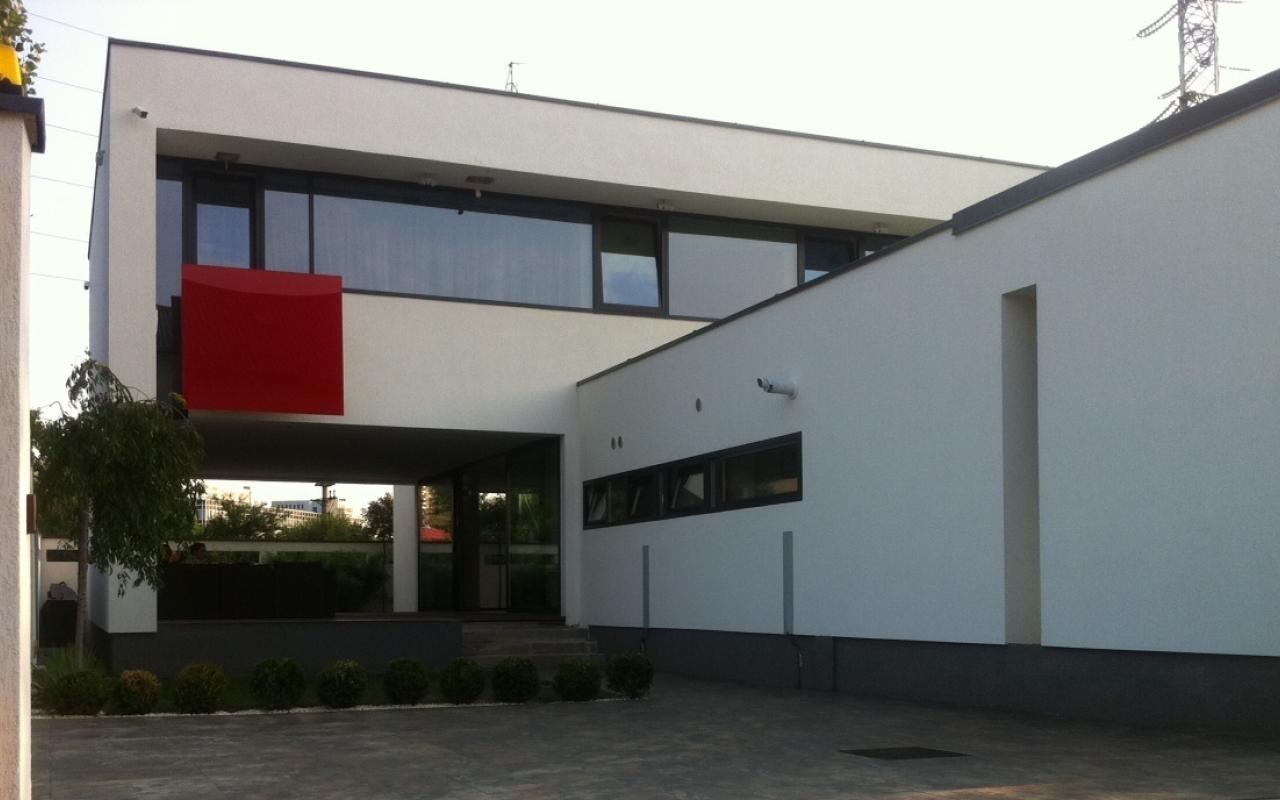 Proiect Casa moderna | Lucrare finalizata casa moderna cod ABP Fin Popesti Leordeni | Proiect din portofoliul CUB Architecture