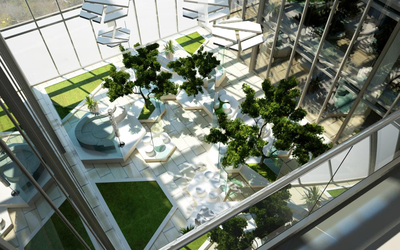 Atrium design in floreasca park cub architecture portfolio for Residential atrium