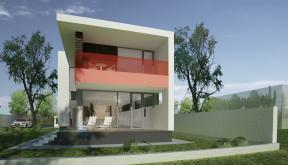 Proiect Locuinta Moderna placata cu Lemn cod RLS in Saftica
