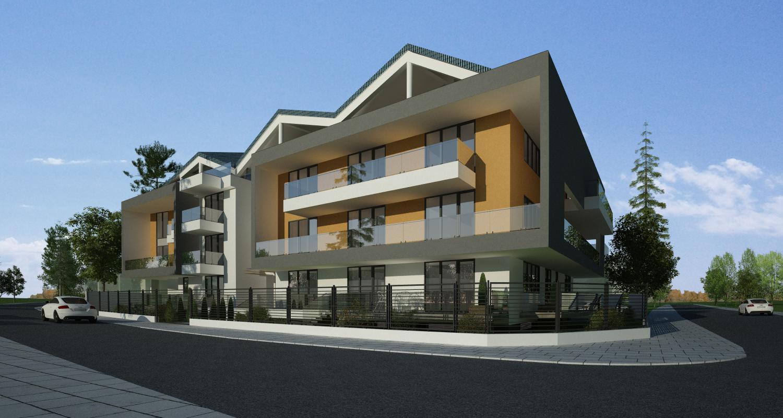 Proiect Ansamblu Rezidential Sinca Bucuresti bloc de locuinte modern cu 24 de apartamente cod SINC in Bucuresti, S1