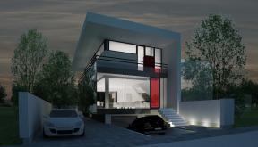 Proiect Locuinta Moderna pe limita de proprietate cod FACT Bucuresti