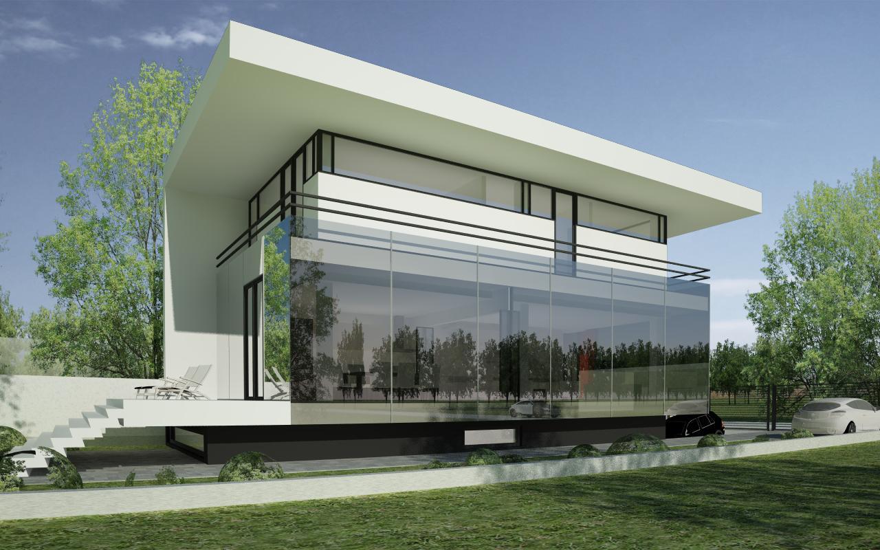 Proiect locuinta urbana moderna concept design casa for Modern house projects