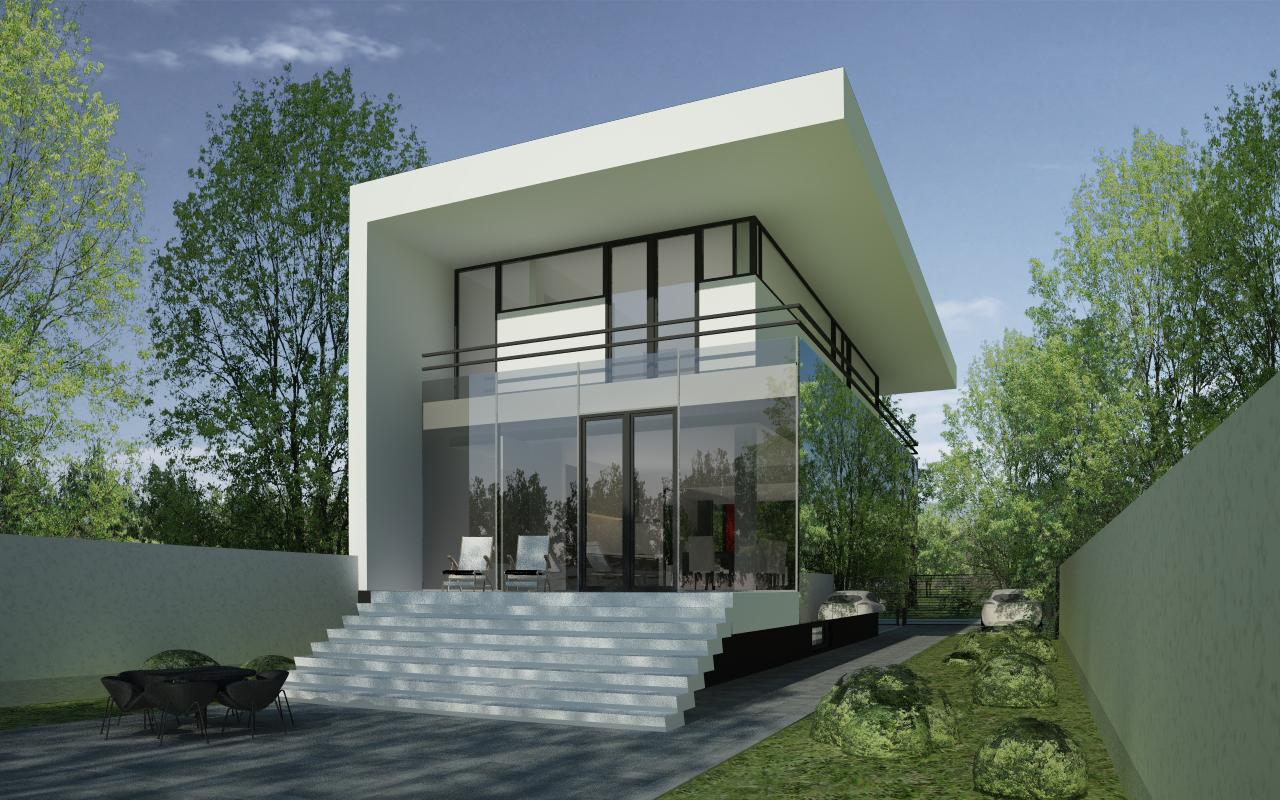 Modern house in bucharest s6 project from cub for Modern house projects