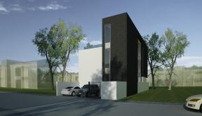 Proiect Casa Minimalista cu 2 etaje casa moderna pe teren ingust cod RMB in Bucuresti Sector 3