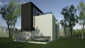 Proiect Casa Minimalista cu 2 etaje casa moderna pe teren ingust cod RMB in Bucuresti