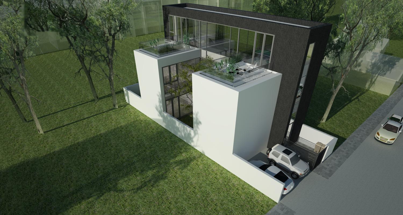 Proiect Casa Minimalista cu 2 etaje casa moderna cod RMB in Bucuresti Sector 3