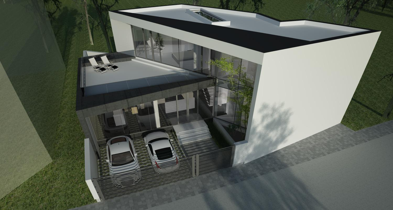 Proiect Locuinta Moderna pe teren triunghiular in Bucuresti