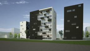 Proiect Ansamblu Rezidential cu 4 Blocuri Pitesti bloc de locuinte modern cu 66 de apartamente cod BWRA in Pitesti AG