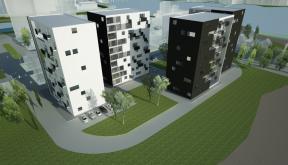 Proiect Ansamblu Rezidential cu 4 Blocuri Pitesti cu apartamente cod BWRA in Pitesti AG