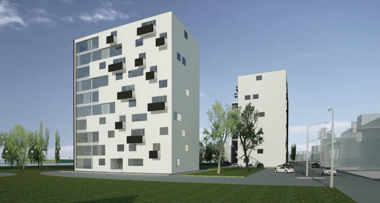 Proiect Ansamblu Rezidential cu 4 Blocuri Pitesti bloc de locuinte cu 66 de apartamente cod BWRA in Pitesti AG
