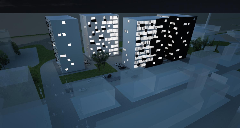 Proiect Ansamblu Rezidential cu 4 Blocuri Pitesti cod BWRA in Pitesti AG