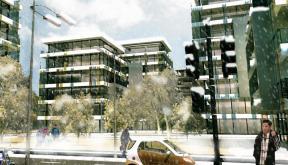 Proiect Ansamblu de Birouri Bucuresti | Concept Design cu 6 imobile cod OFFI in Bucuresti, S6 | Proiect din portofoliul CUB Architecture