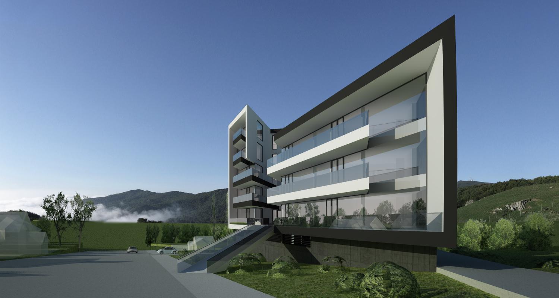 Proiect Ansamblu Rezidential Sibiu bloc de locuinte modern cu 28 de apartamente cod BWRS in Sibiu