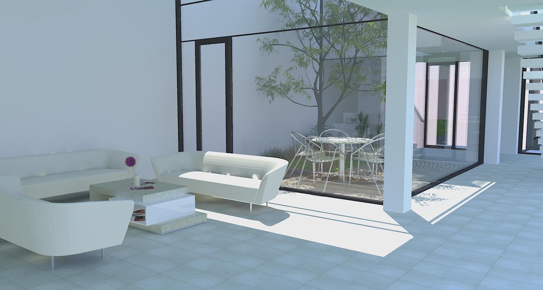 casa moderna cu atrium cod LMB Bucuresti Sector 2