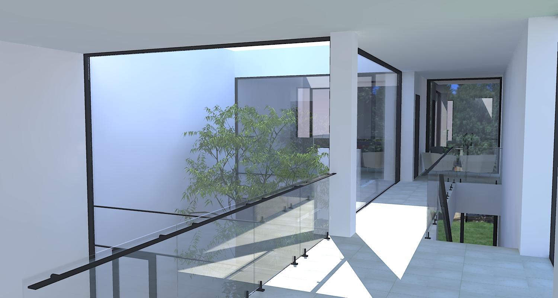 casa moderna cu atrium cod LMB Bucuresti