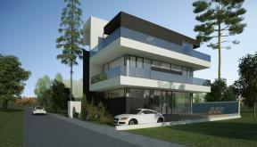 Proiect Locuinta Moderna cu Piscina casa moderna cod MMR in Magurele Ilfov