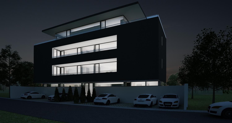 Proiect Imobil Rezidential Bucuresti | Concept Design bloc de locuinte modern cu 7 apartamente cod RBAB in Bucuresti, Sector 3 | Proiect din portofoliul CUB Architecture